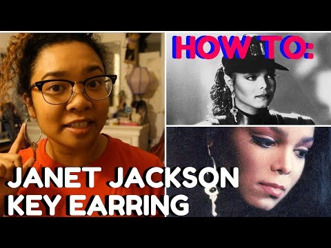 HOW TO: Make a Janet Jackson Key Earring (UNDER $10!)