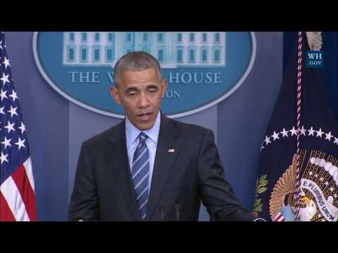 Obama's Final Press Conference Of 2016- Full Event