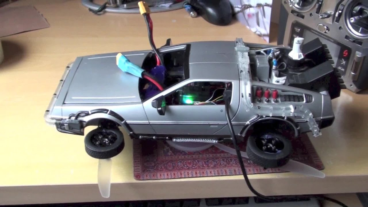 Fpv Drone Racing Rc Flying Delorean Prototype Back To