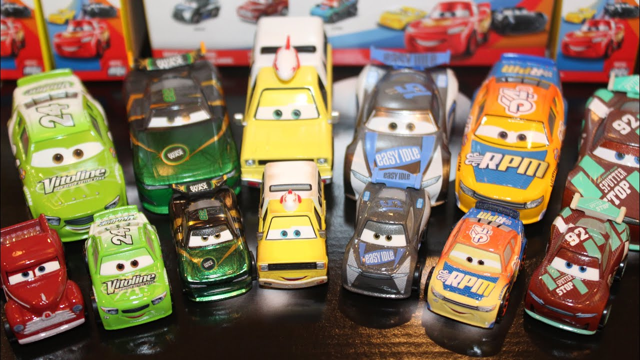 DISNEY PIXAR CARS DIE CAST MINI RACERS SHERIFF APB RAMONE DINOCO CAL NO PACKAGE
