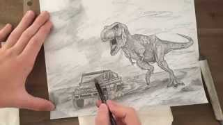 Jurassic Park/World Speed Drawing
