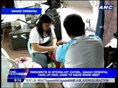 Cateel residents take up odd jobs to make ends meet