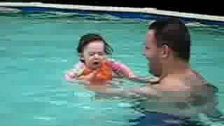 Emerson and Caleb in the Pool