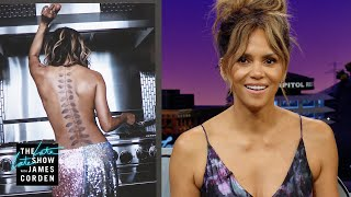 Halle Berry Is Test Driving Tattoos & Cooking Eggs Topless