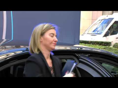 Arrival of Federica MOGHERINI at the European Council