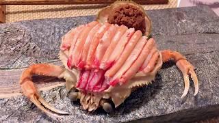 セイコガニ(雌松葉がに、越前がに、香箱蟹)の捌き方——夢屋•鮨 How to Prepare Female Snow Crab Like A PRO by YUMEYA•ZUSHI