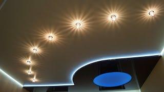 видео Натяжной потолок 13 кв м цена в Москве купить матовый двухуровневый натяжной потолок