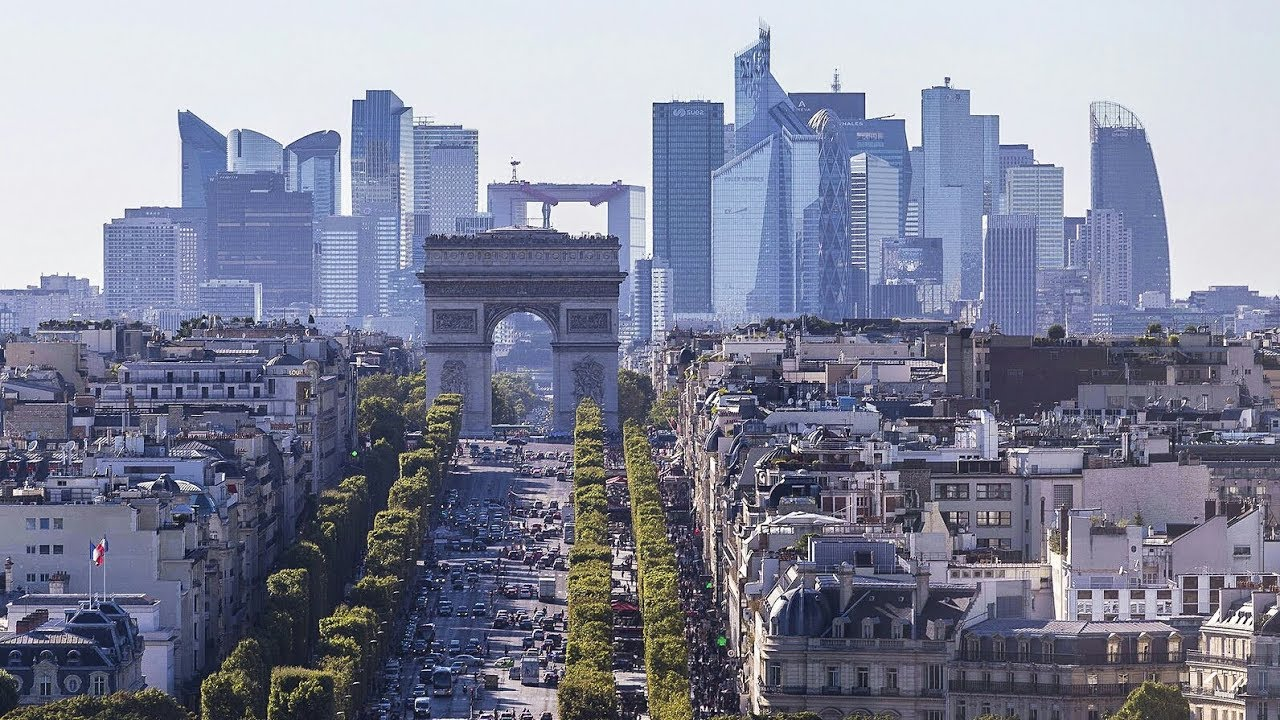 Image result for paris skyline
