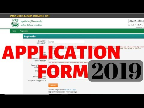 Jamia Millia Islamia University(JMI) Online Application Form filling process| Admission Details