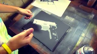 "Tutorials, Tips, & Tricks! ""General Stencil Spraying"" by BASE45"