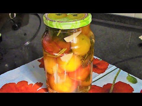 Рецепт Помидоры с чесноком консервированные ./ Помидоры на зиму рецепты ./ Консервируем помидоры.