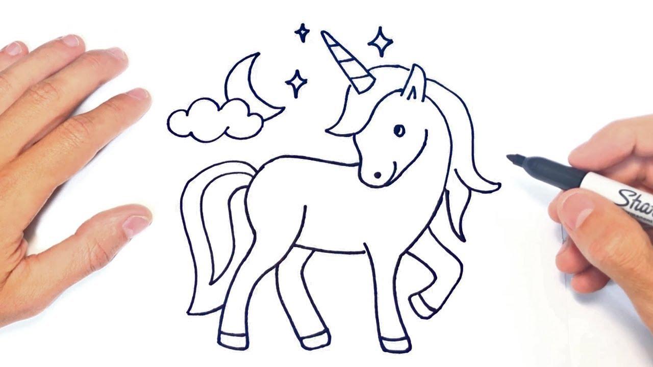 Cómo Dibujar Un Unicornio Paso A Paso Dibujo De Unicornio Youtube
