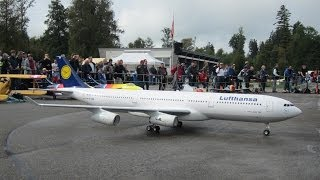 Giant Model RC Airbus A340 Hausen am Albis 2013 Jetcat Power 4 Turbine