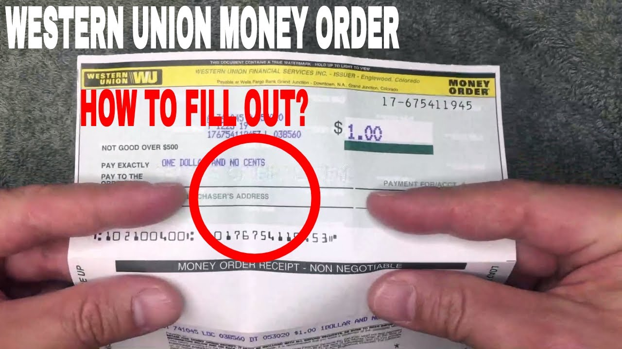 ✅ How To Fill Out Western Union Money Order 🔴
