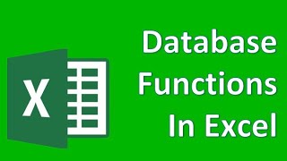 Microsoft Excel 07b Company Car Database - Database Functions in Excel
