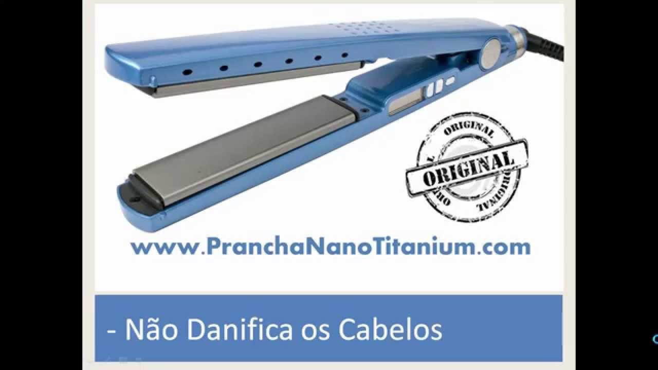 a8c7df416 Prancha Nano Titanium Pro - Melhor Chapinha de Cabelo - YouTube