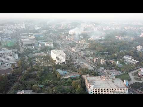 Aerial View of Chittagong City