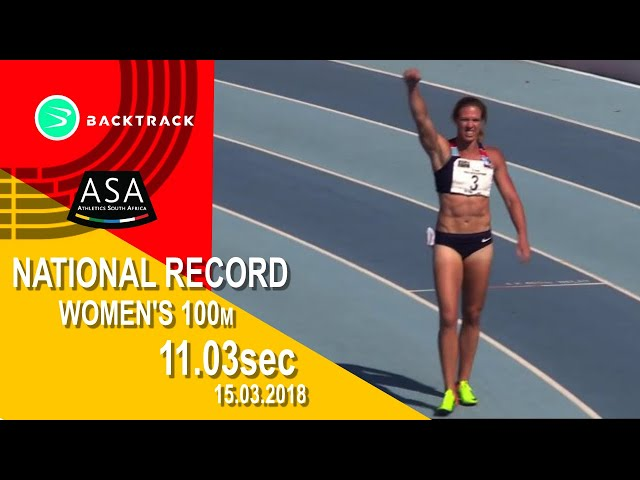 Carina Horn BREAKS SA 100M RECORD!