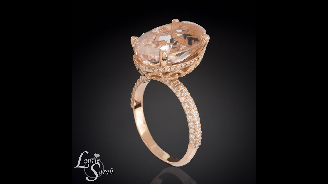 overstock ring diamond jewelry today wedding accent and white watches with sapphire miadora free rings stone shipping gold engagement accents created morganite product rose