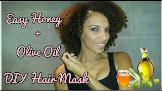 DIY Olive Oil and Honey Hair Mask | Natural Hair Tutorial | NiaKnowsHair
