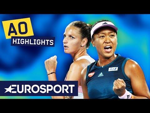 Karolína Plíšková v Naomi Osaka Extended Highlights | Australian Open 2019 Semi-Finals