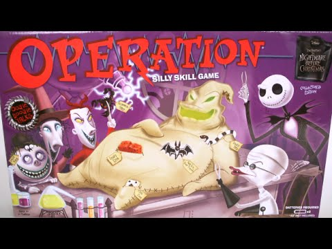 Christmas Operation Game.Operation Tim Burton S The Nightmare Before Christmas Collector S Edition From Usaopoly