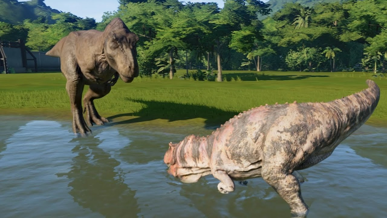 Ceratosaurus(Modified) VS T-Rex, Spinosaurus, I-Rex and ...Giganotosaurus Vs Spinosaurus