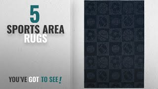 Top 10 Sports Area Rugs [2018 ]: Garland Rug Sports Balls Area Rug, 5' x 7', Navy