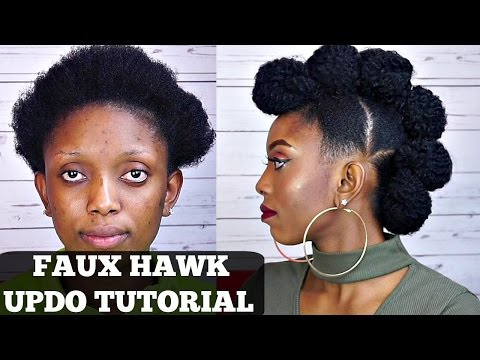 How To Faux Hawk Updo Tutorial On Short Natural Hair