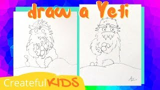 How To Draw a Yeti (Abominable Snowman)
