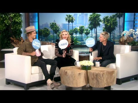 Thumbnail: Never Have I Ever with Madonna and Justin Bieber