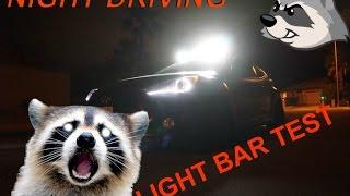 veloster turbo nocturnal drive  light bar night test