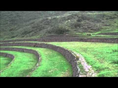Surreal Circular Structure Of Moray Near Cuzco Peru