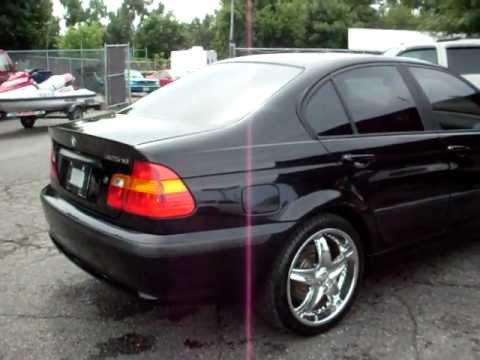 2002 Bmw 325xi All Wheel Drive 6cyl Leather Jet Black 18 Quot Chrome Wheels Youtube