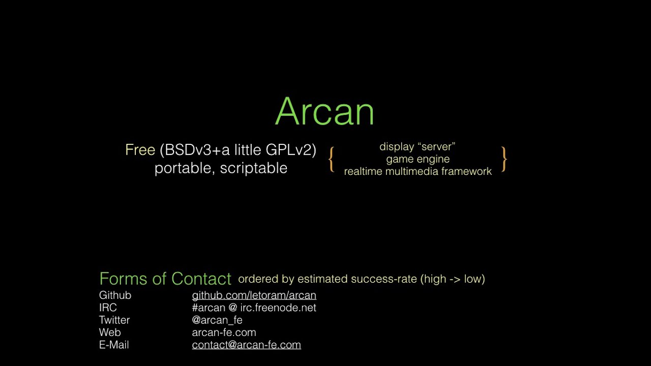 Arcan: A New Open-Source Display Server Built Atop A Game