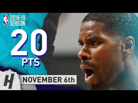 Marvin Williams Full Highlights Hornets vs Hawks 2018.11.06 - 20 Pts, 8 Rebounds!