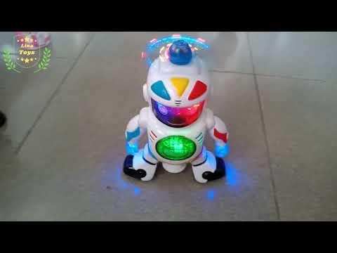 Robot đồ chơi xoay 360 độ, di chuyển thông minh