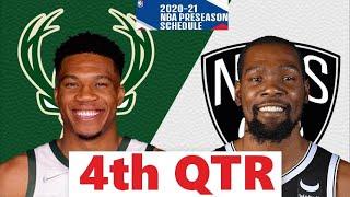 Brooklyn Nets vs. Milwaukee Bucks Full Highlights 4th Qtr