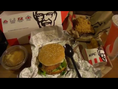 Kfc Zinger Sandwich Big Box Complete Review Youtube