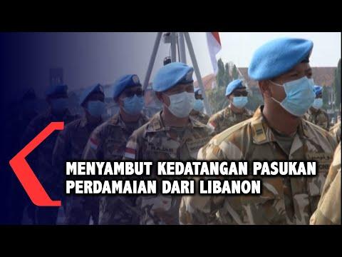 Momen Haru Penyambutan Satgas MTF Unifil dari Lebanon Tiba di Surabaya