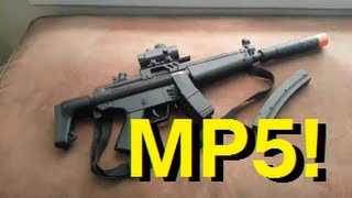 cyma hk mp5 aeg full auto airsoft review channel update