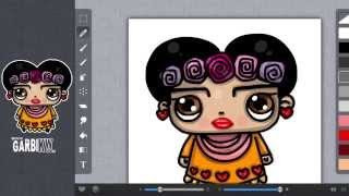 How To Draw Frida Kahlo Cartoon by Garbi KW