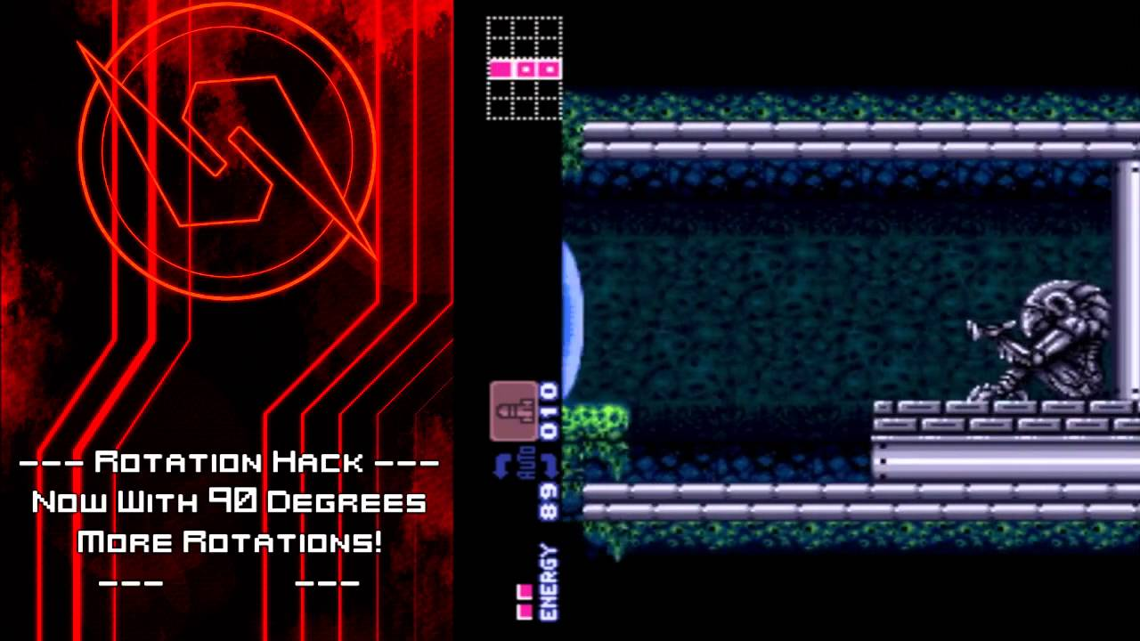 Super Metroid Rotation Hack - Rotated!
