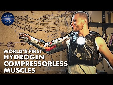 Hydrogen muscles for Iron Man exoskeleton (work without compressor!)