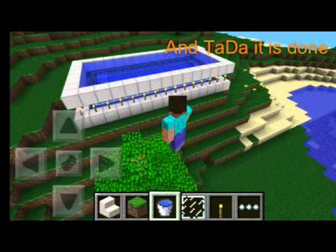 How To Build An Awesome Pool In Minecraft PE YouTube