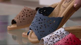 12c15074a4b Spring Step Wedge Slide Sandals - Estella on QVC by QVCtv