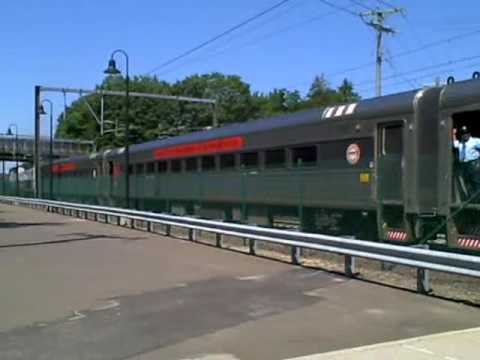 two shoreline east trains at guilford ct 7 22 16 youtube