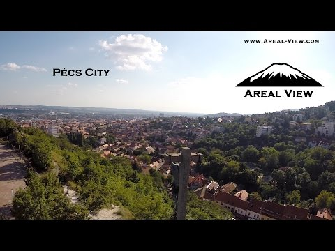 Pecs city Hungary By Areal View