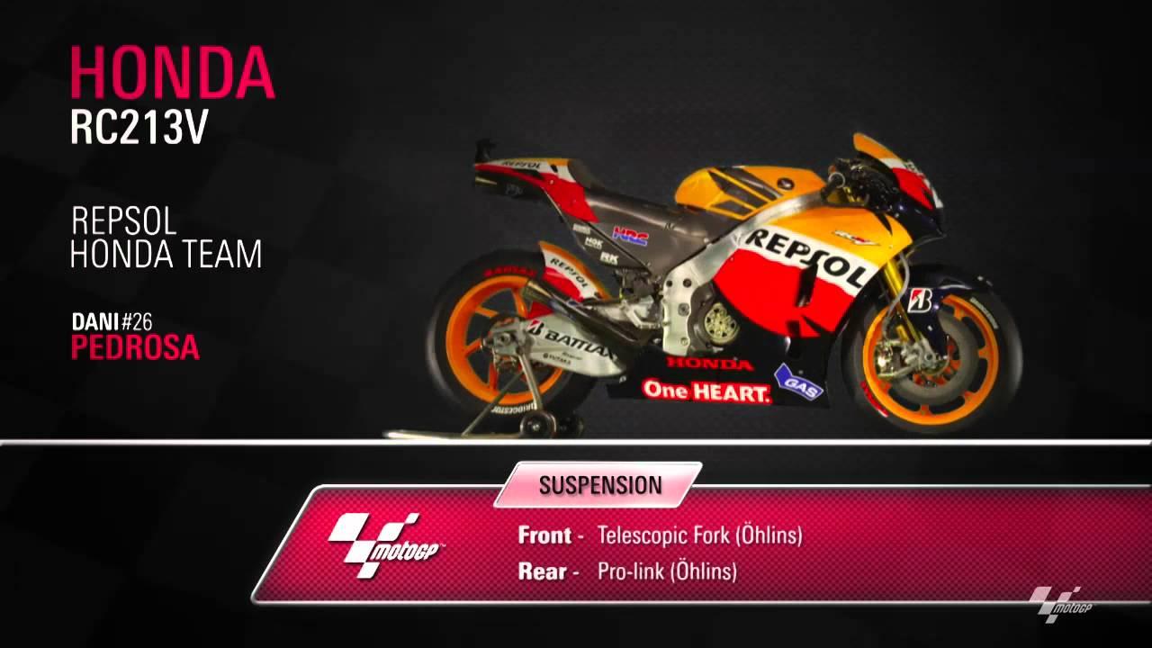Dani Pedrosa - Repsol Honda RC213V Close-up - YouTube