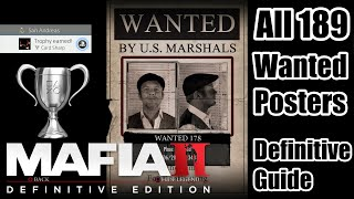 Mafia II Definitive Edition | Card Sharp Trophy | All 189 Wanted Poster Locations